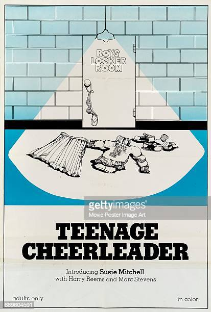 Image contains suggestive contentA poster for the pornographic film 'Teenage Cheerleader' starring Susie Mitchell Harry Reems and Marc Stevens 1974