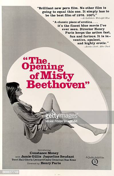 Image contains suggestive contentA poster for the pornographic film 'The Opening of Misty Beethoven' written and directed by Radley Metzger and...