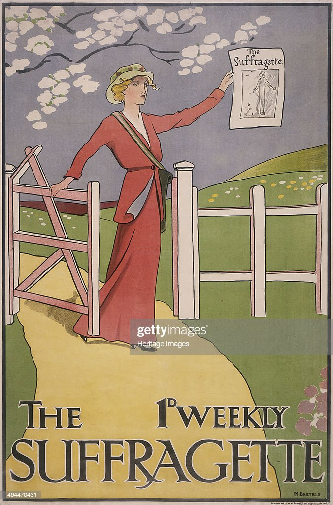 Poster for The Suffragette newspaper c1910c1915 The paper was produced during the campaign to gain the vote for women