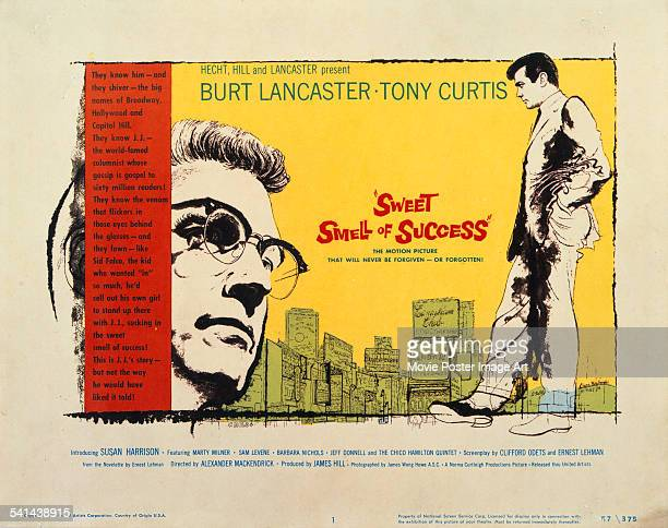 A poster for the US release of Alexander Mackendrick's 1957 film noir drama 'Sweet Smell Of Success' starring Burt Lancaster and Tony Curtis