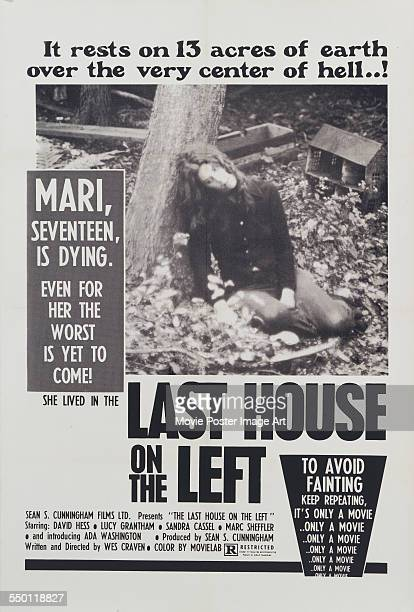 A poster for Wes Craven's 1972 horror film 'The Last House on the Left' starring Sandra Peabody