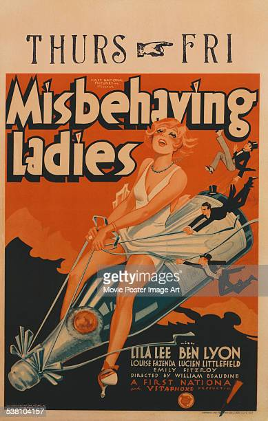 A poster for William Beaudine's 1931 drama 'Misbehaving Ladies'