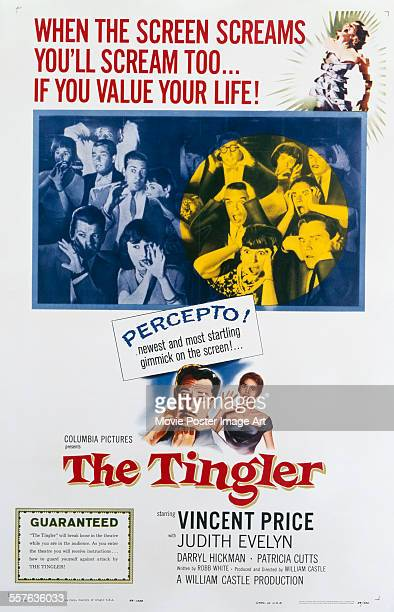 A poster for William Castle's 1959 horror film 'The Tingler' starring Vincent Price