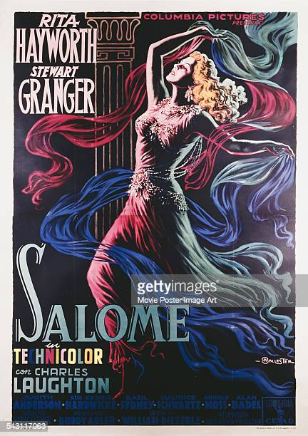 A poster for William Dieterle's 1953 drama 'Salome' starring Rita Hayworth