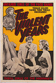 A poster for William Morgan's 1956 crime film 'The Violent Years' starring Jean Moorhead