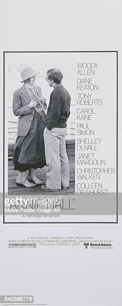 A poster for Woody Allen's 1977 romantic comedy 'Annie Hall' featuring Mia Farrow and Allen who also cowrote and directed the film