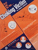 Poster instructing how to help choking victims usually posted in restaurants