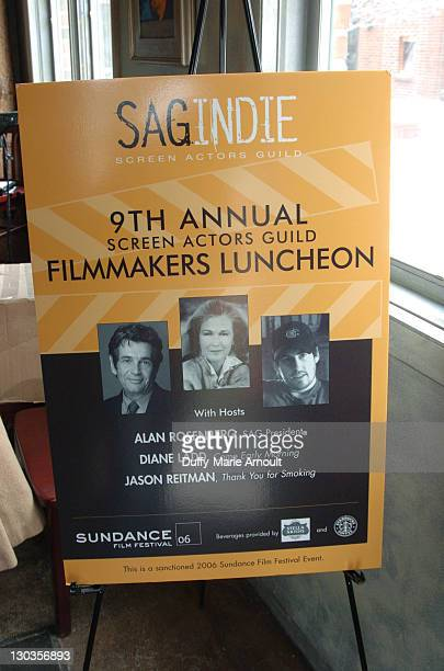 Poster of 9th Annual Filmmakers Luncheon during 2006 Sundance Film Festival SAG Indie Brunch 2 at Cafe Terigo in Park City Utah United States