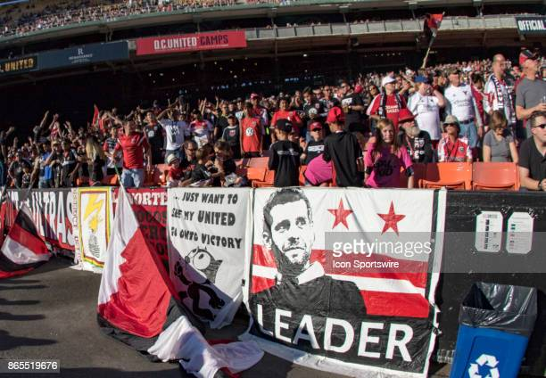 Poster of DC United coach Ben Olsen during DC United's final MLS match at RFK Stadium between DC United and the New York Red Bulls on October 22 at...