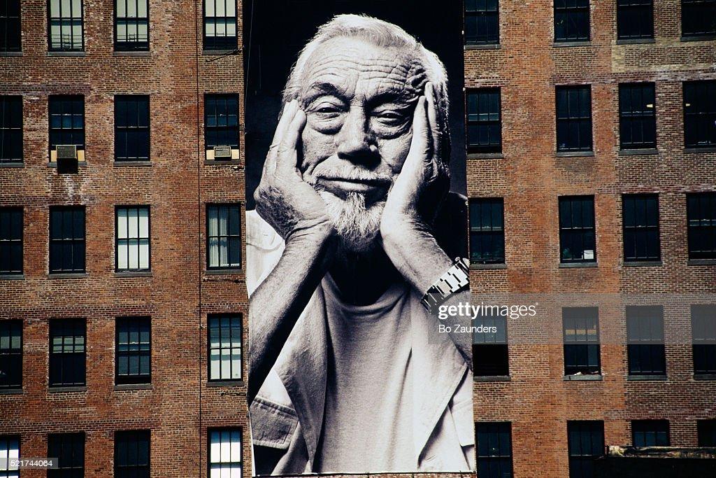 Poster of Director John Huston on Building : Stock Photo