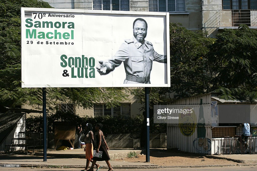 Poster of first president of Mozambique, Samora Machel : Stock Photo