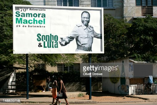 Poster of first president of Mozambique, Samora Machel : Foto stock
