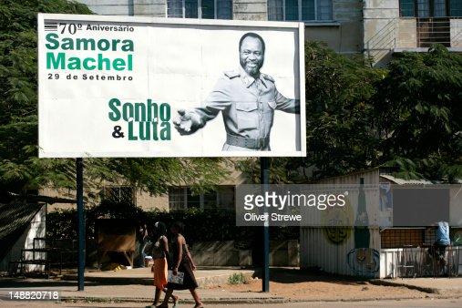 Poster of first president of Mozambique, Samora Machel : Stockfoto