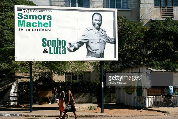 Poster of first president of Mozambique, Samora Machel