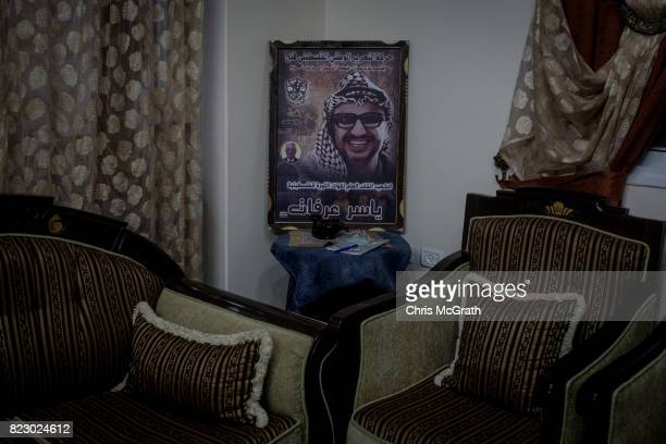 A poster of former Palestinian political leader Yasser Arafat is seen in a house in AlZahra district on July 18 2017 in Gaza City Gaza For the past...