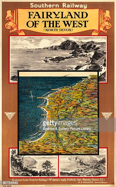 Poster of North Devon produced for the Southern Railway