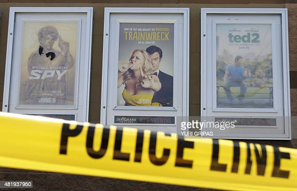 A poster of of Amy Schumer's movie Trainwreck is seen on July 25 2015 outside The Grand Theatre in Lafayette Louisiana The troubled 'drifter' who...