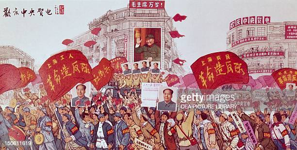 Poster of the Revolution January 1967 in Shanghai China 20th century