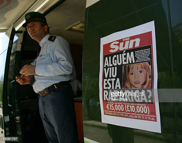 A poster on a police van reads 'Has anyone seen this girl' on May 7 2007 in Praia da Luz Portugal Threeyearold Madeleine McCann disappeared May 3...