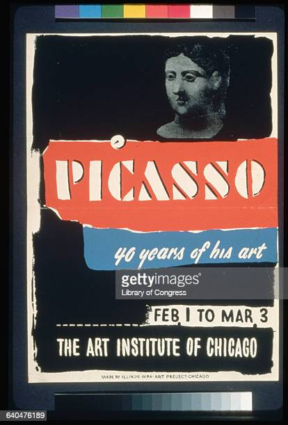Poster 'Picasso 40 Years of His Art The Art Institute of Chicago'