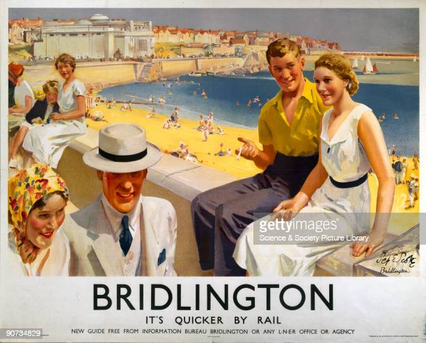 Poster produced by London North Eastern Railway to promote train services to Bridlington in North Yorkshire Artwork by Septimus E Scott who was born...