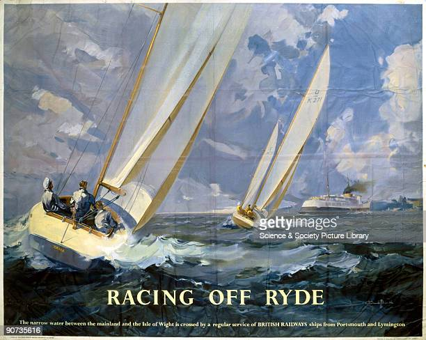 Poster produced for British Railways Southern Region to promote rail and sea travel to Ryde on the Isle of Wight Artwork by an unknown artist