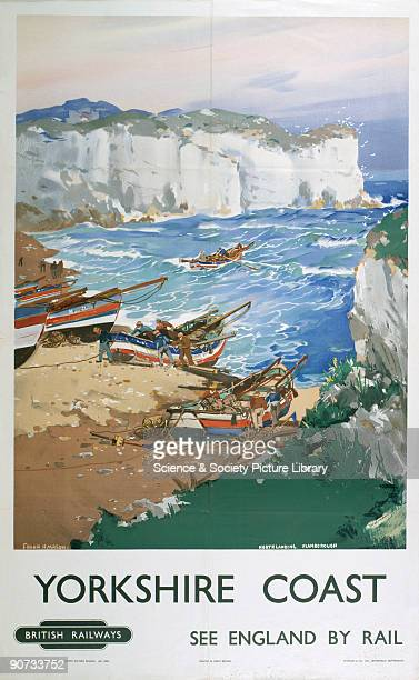 Poster produced for British Railways to promote rail travel to the Yorkshire coast The poster shows a view of North Landing Flamborough with some...