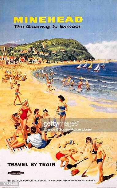 Poster produced for British Railways to promote rail travel to Minehead �The Gateway to Exmoor� in Somerset Artwork by Studio Seven