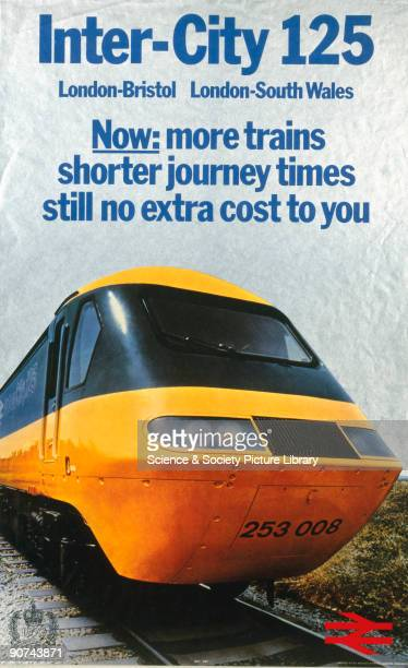 Poster produced for British Railways to promote the company�s InterCity 125 service between London and Bristol and London and South Wales Artwork by...