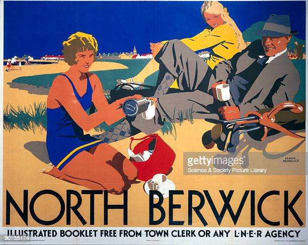 Poster produced for the London North Eastern Railway to promote rail travel to the seaside resort of North Berwick on the east coast of Scotland The...