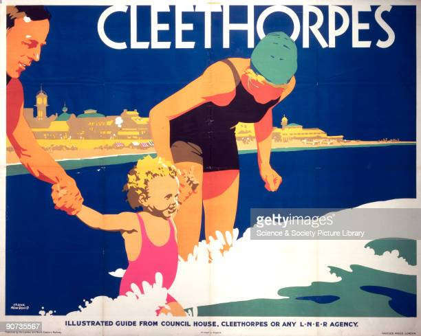 Poster produced for the London North Eastern Railway to promote rail travel to the popular North East coastal resort of Cleethorpes Lincolnshire The...
