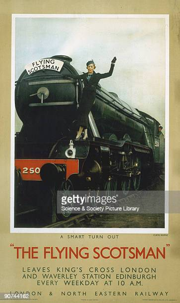 Poster produced for the London North Eastern Railway to promote rail services between King�s Cross Station London and Waverley Station Edinburgh The...
