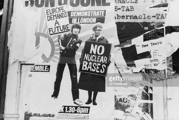 A poster publicising a CND demonstration in London 1982