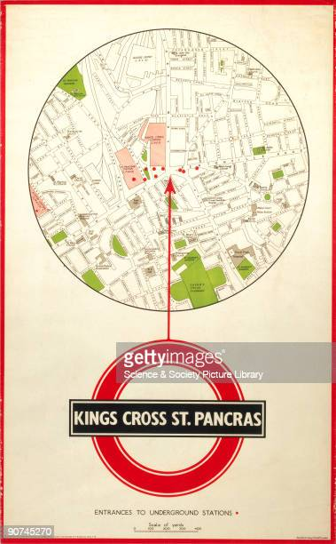 Poster showing a map of the Kings Cross area of London