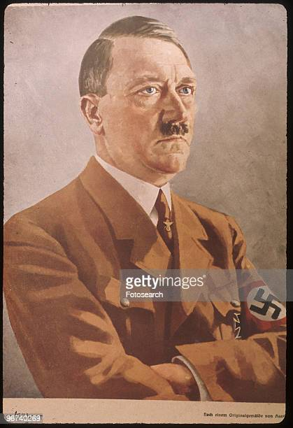 Poster showing a portrait of Adolf Hitler of the National Socialist German Worker's Party circa 1943