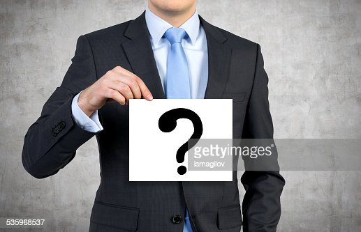 poster with question mark : Stock Photo