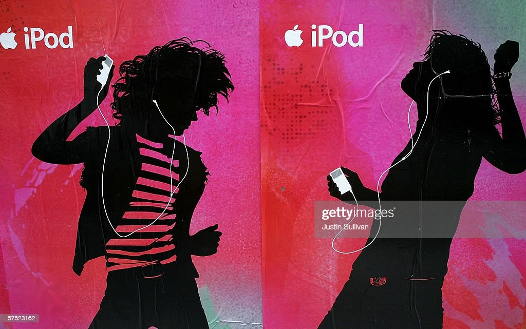 Posters advertising Apple's iPod are seen on the side of a building May 3 2006 in San Francisco California Apple Computer Inc the maker of the...