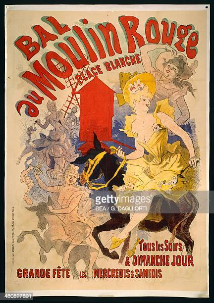 Posters France 19th century Jules Cheret Ball at the Moulin Rouge 1895