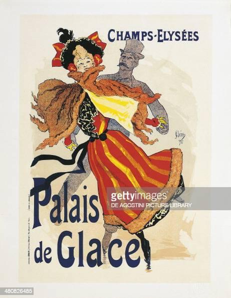 posters france 20th century jules cheret 1836 1932 champs elysees palais de glace ice. Black Bedroom Furniture Sets. Home Design Ideas