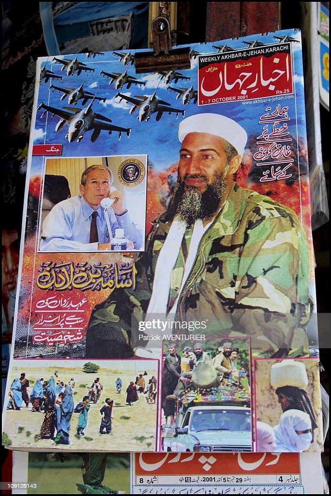 Posters Of Oussama Ben Laden On April 10Th, 2001, Pakistan.