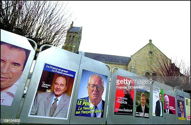 Posters Of The French Presidential Campaign On December 4Th France