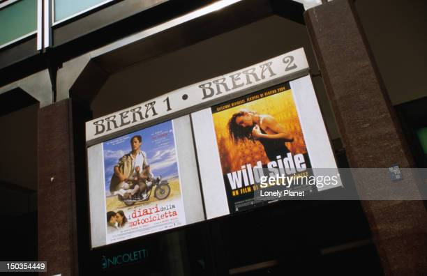 Posters outside Movie Theater Brera.