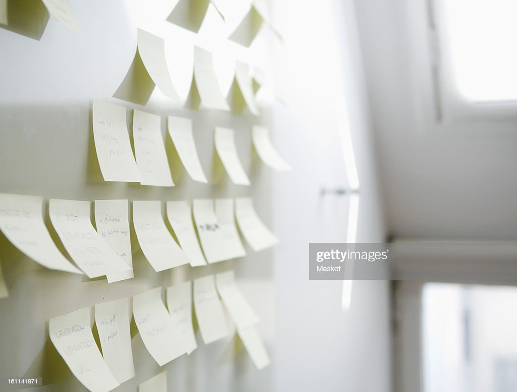 Post-its on board