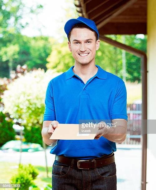 Postman delivering a mail