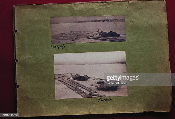 A postmortem photograph of Grigori Rasputin taken after discovery of his body in the frozen Malaya Nevka river near the Bolshoy Petrovsky bridge on...