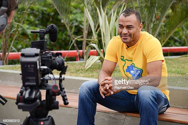 Posto adidas 'The Dugout' YouTube Live TV Show and Press Conference with Guest Cafu on June 2014 in Rio de Janeiro Brazil