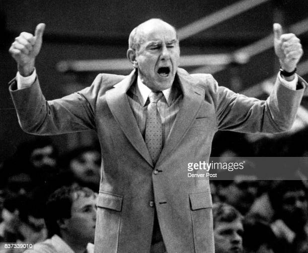 Port1and coach Jack Ramsay was thumbs up on this Portland fast break basket but with his team's loss to Denver last night in Portland he may have...