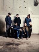 Postrock band Mogwai are photographed for Skinny magazine on November 16 2013 in Glasgow Scotland