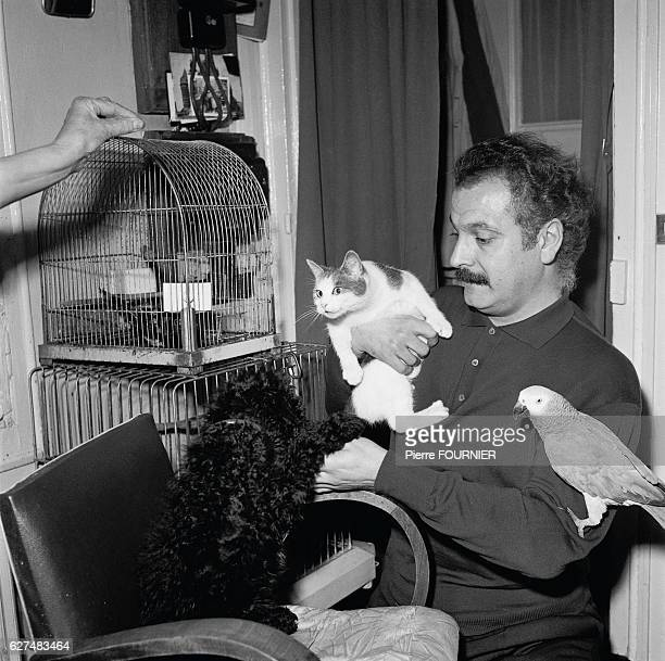 Postwar French singersongwriter Georges Brassens is famed for his songs Le Gorille and Les Copains 'D'Abord Brassens with his cat and pet bird