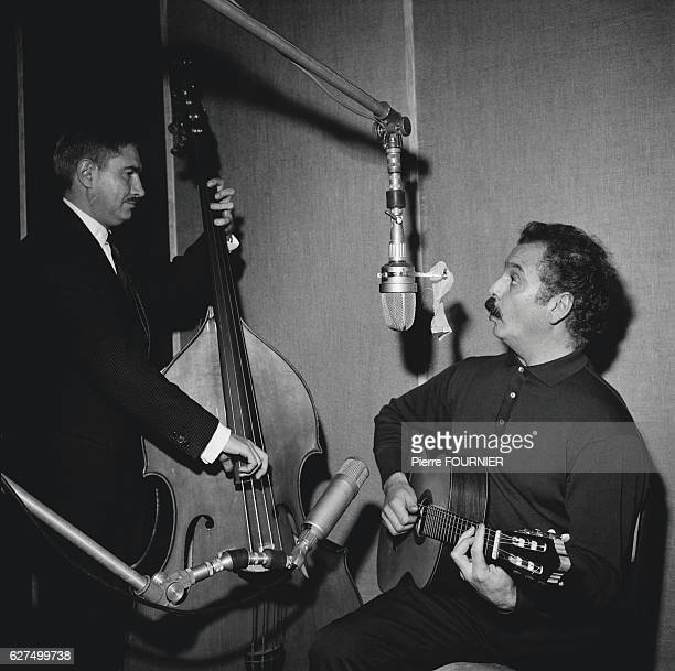Postwar French singersongwriter Georges Brassens is famed for his songs Le Gorille and Les Copains 'D'Abord Brassens in the recording studio
